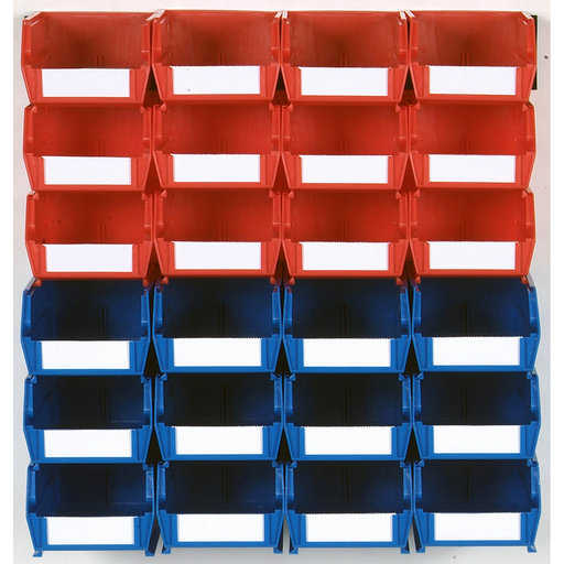 View a Larger Image of 26pc. Wall Storage Unit - Red & Blue