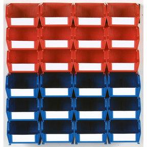 26pc. Wall Storage Unit - Red & Blue