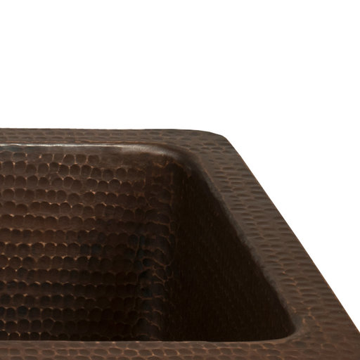 """View a Larger Image of 28"""" Rectangle Hammered Copper Bar/Prep Sink with 3.5"""" Drain Opening"""