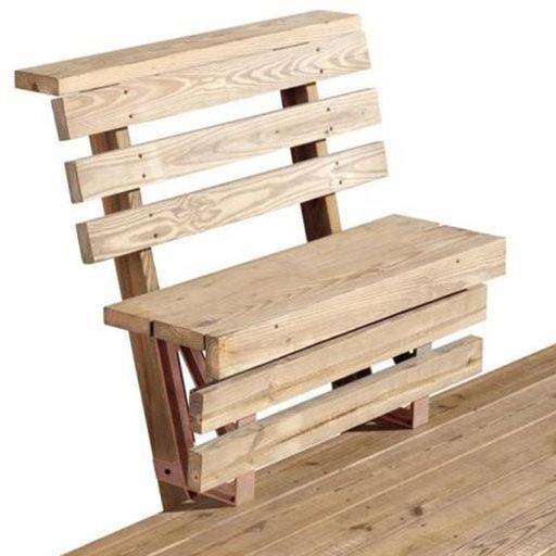 View a Larger Image of 2x4basics Dekmate Bench Bracket, 2-Pack - Redwood
