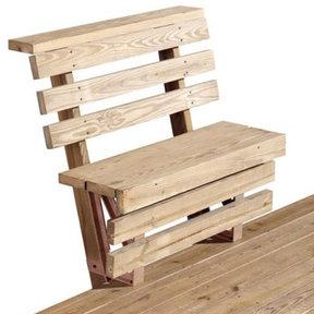 2x4basics Dekmate Bench Bracket, 2-Pack - Redwood
