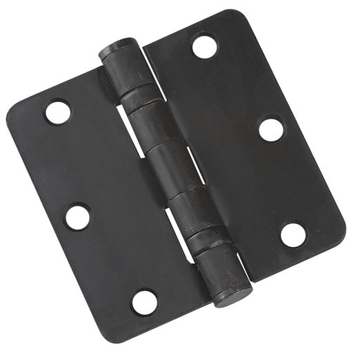 """View a Larger Image of 3-1/2"""" (89 mm) Full Mortise Ball Bearing Butt Hinge 1/4"""" Radius Oil-Rubbed Bronze"""