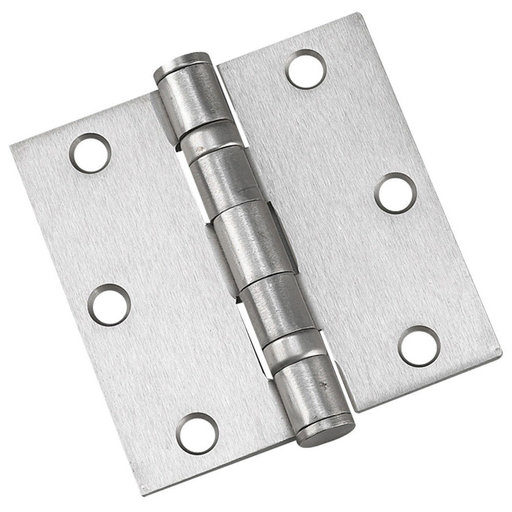 """View a Larger Image of 3-1/2"""" (89 mm) Full Mortise Ball Bearing Butt Hinge Brushed Nickel"""