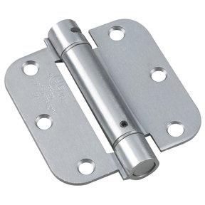 "3-1/2"" Full Mortise Adjustable Spring Hinge Stainless Steel 5/8'' Radius"
