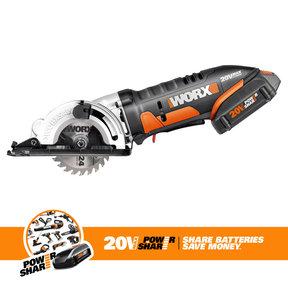 """3-3/8"""" WORXSAW, Model WX523L 20V Li-ion"""