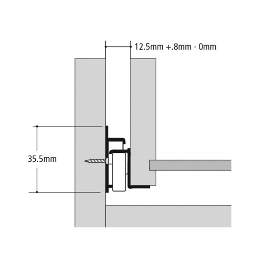"""View a Larger Image of 20"""" x 3/4-Extension Self-Close White Epoxy Coated Euro Drawer Slides Model KV 1805 Pair"""