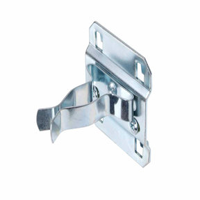 3/4 In. to 1-1/4 In. Hold Range 2 In. Projection, Zinc Plated/Chromate Dipped Steel Extended Spring Clip for LocBoard, 5