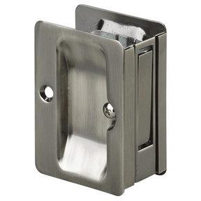 """3-7/32"""" (82 mm) Pocket Door Pull Rectangular Antique Nickel Passage"""