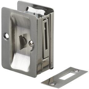 """3-7/32"""" (82 mm) Pocket Door Pull  Rectangular Antique Nickel Privacy"""