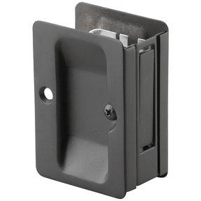 "3-7/32"" (82 mm) Pocket Door Pull Rectangular Black Passage"