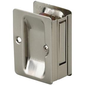"""3-7/32"""" (82 mm) Pocket Door Pull Rectangular Brushed Nickel Passage"""