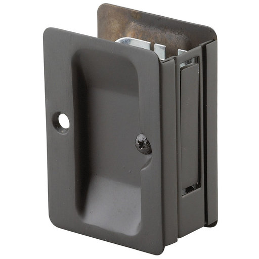 """View a Larger Image of 3-7/32"""" (82 mm) Pocket Door Pull Rectangular Oil-Rubbed Bronze Passage"""