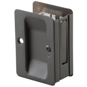 """3-7/32"""" (82 mm) Pocket Door Pull Rectangular Oil-Rubbed Bronze Passage"""