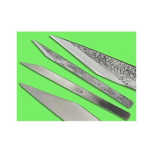 "View a Larger Image of 3/8"" Left Handed Blue Steel Woodworking Knife (Kogatana)"