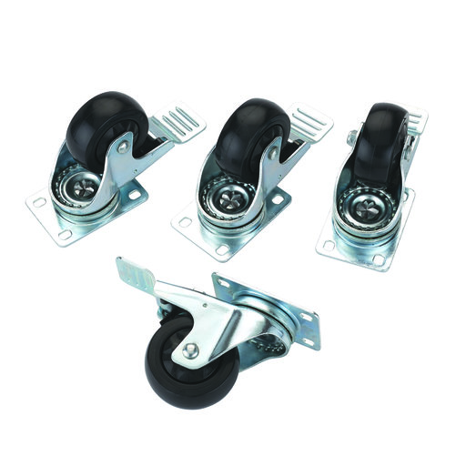 """View a Larger Image of 3"""" Caster Double Locking Swiveling with 4 Hole Mounting Plate 4 pk"""