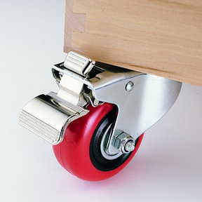 """3"""" Caster Double Locking Swiveling with 1/2"""" Mounting Hole 4-1/8"""" Tall"""