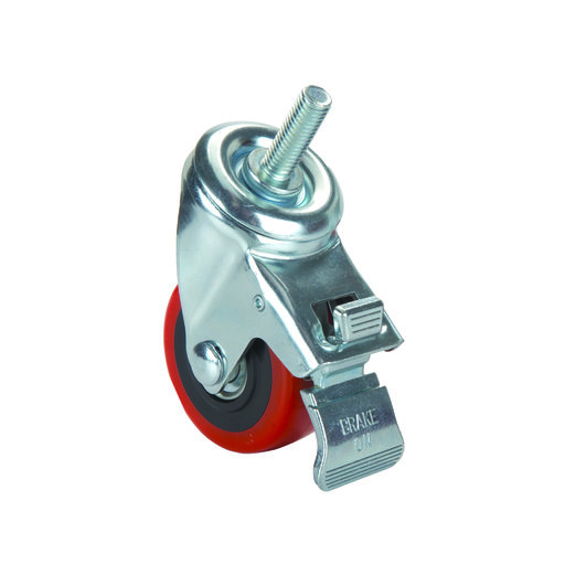 """View a Larger Image of 3"""" Caster Double Locking Swiveling with 1/2"""" Threaded Spindle"""