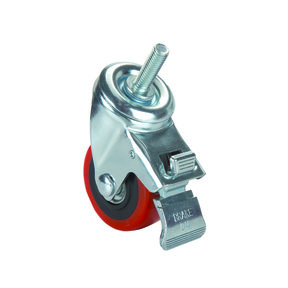 """3"""" Caster Double Locking Swiveling with 3/8"""" Threaded Spindle"""