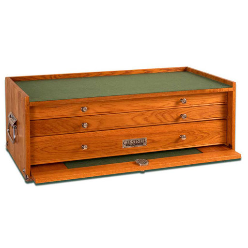 View a Larger Image of GI-M24 3-Drawer Mid-Base, Red Oak
