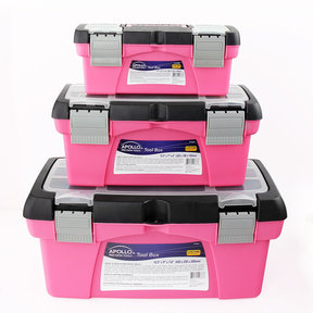 3 Piece Tool Box - Pink
