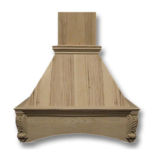 View a Larger Image of 30-in. Wide Arched Corbel Maple Wood Wall-Mount Range Hood