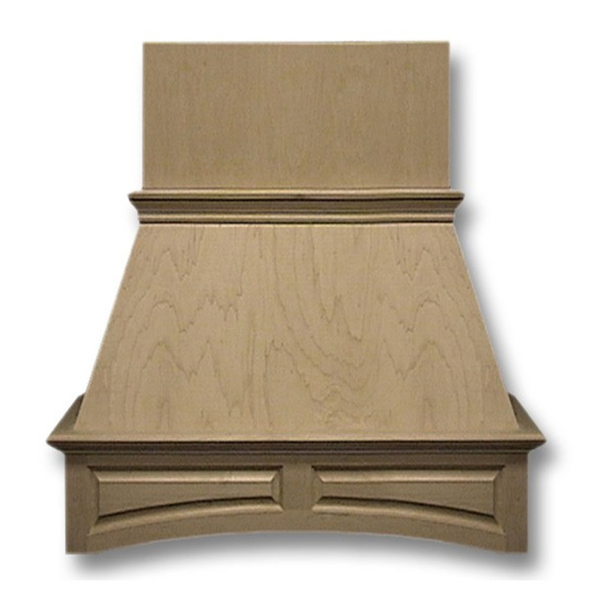 View a Larger Image of 30-in. Wide Arched Raised Panel Cherry Wood Wall-Mount Range Hood