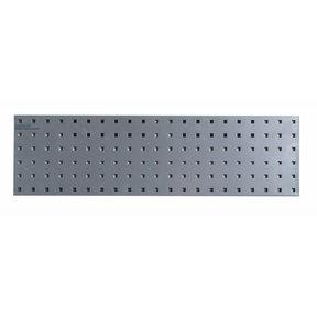 31.5 In. W x 9 In. H Silver Epoxy, 18 Gauge Steel Square Hole Pegboard Strip
