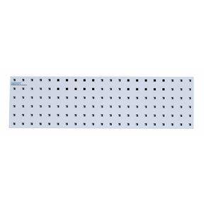31.5 In. W x 9 In. H White Epoxy, 18 Gauge Steel Square Hole Pegboard Strip