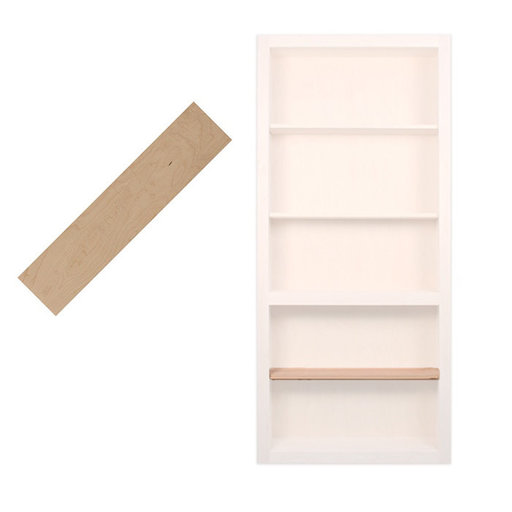 View a Larger Image of 32 in. Maple Extra Shelf Accessory for 32 in. InvisiDoor Bookcase Door