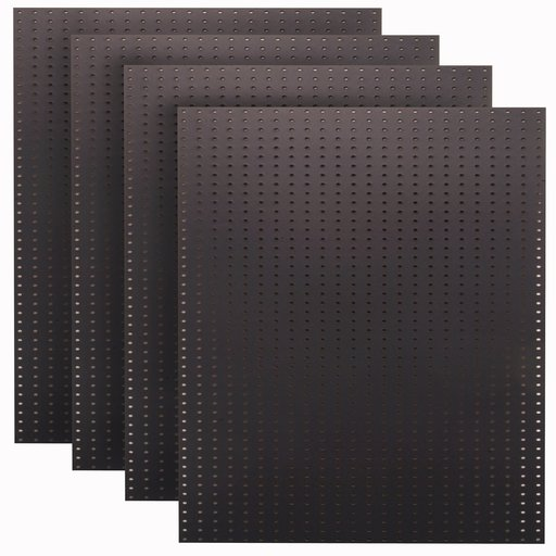 View a Larger Image of (4) 24 In. W x 48 In. H x 1/4 In. D Custom Painted Jet Black Heavy Duty Tempered Round Hole Pegboards