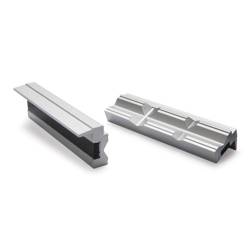 """View a Larger Image of 4"""" Aluminum Prismatic Vise Jaws"""
