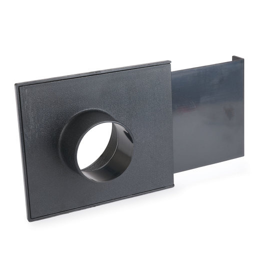 """View a Larger Image of 4"""" x 2-1/2"""" Basic Blast Gate Dust Collection Fitting"""