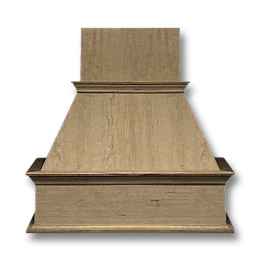 View a Larger Image of 42-in. Wide Decorative Red Oak Wood Wall-Mount Range Hood
