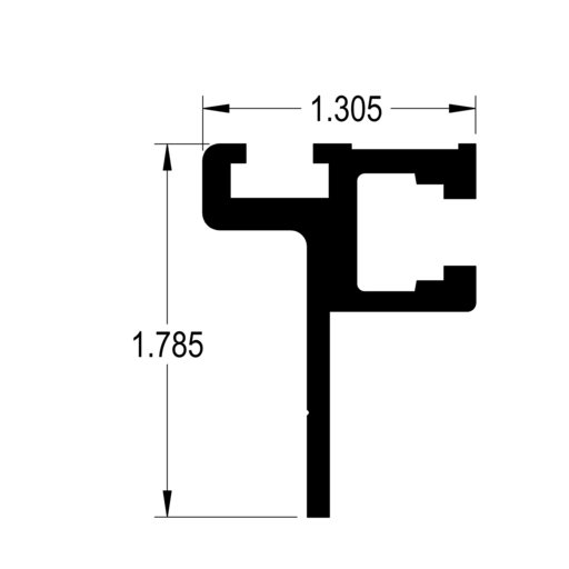 """View a Larger Image of 48"""" Fence Adapter T-Track"""