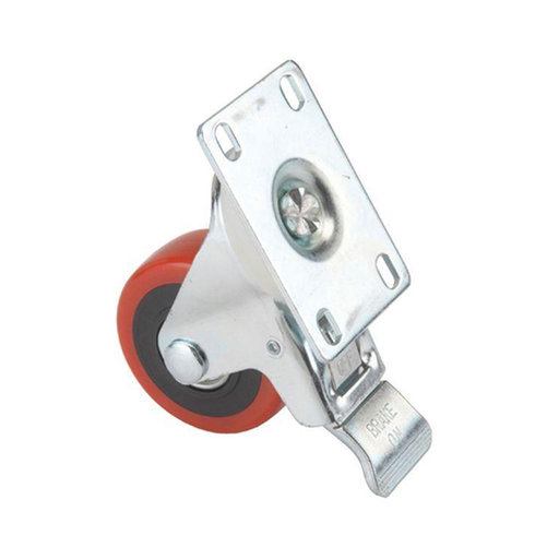 """View a Larger Image of 5"""" Caster Double Locking Swiveling with 4 Hole Mounting Plate"""