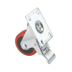 """5"""" Caster Double Locking Swiveling with 4 Hole Mounting Plate"""