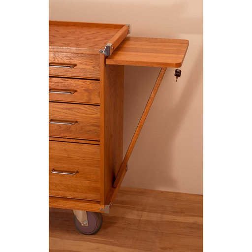 View a Larger Image of R-20 5-Drawer Rolling Cabinet, Oak