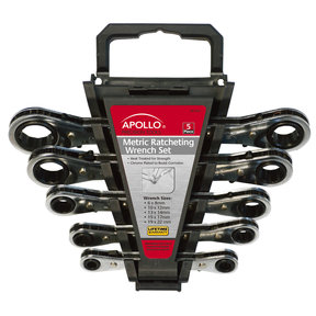 5 Piece Ratcheting Wrench Set-Metric