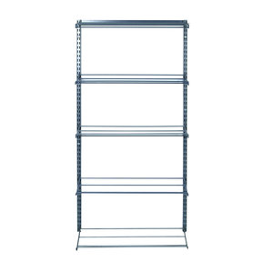 """(5) Tier Shoe and Boot Rack  14""""D x 63""""Hx 33""""W  with Top Track and Hang Rail"""