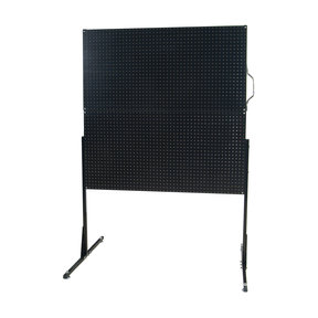 50 In. W Free-Standing Pegboard Unit with 4 Black High Density Fiberboard Pegboards