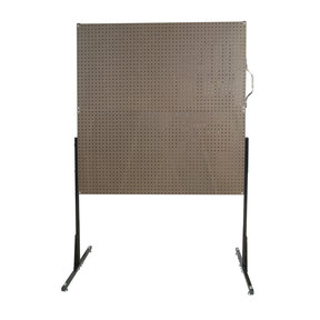 50 In. W Free-Standing Pegboard Unit with 4 Brown Tempered Wood Pegboards