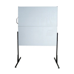 50 In. W Free-Standing Pegboard Unit with 4 White High Density Fiberboard Pegboards