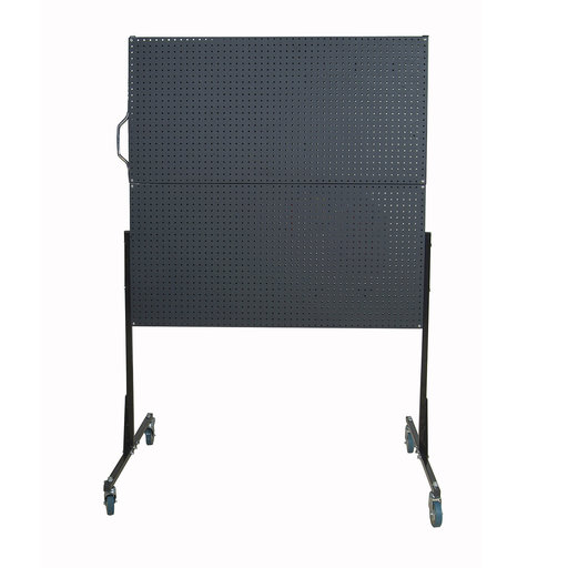 View a Larger Image of 50 In. W Mobile Stand-Alone Pegboard Unit with 4 Black Polyethylene Matte Finish DuraBoard Pegboards