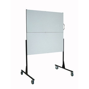 50 In. W Mobile Stand-Alone Pegboard Unit with 4 Polypropylene DuraBoard Pegboards