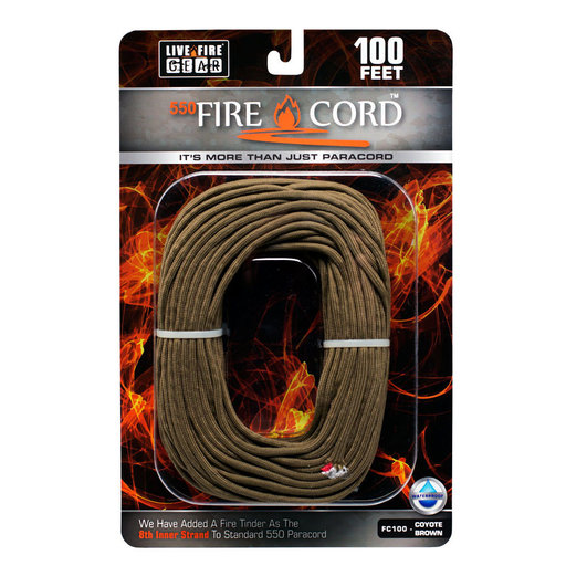 View a Larger Image of  550 FireCord - 100' COYOTEBROWN Paracord