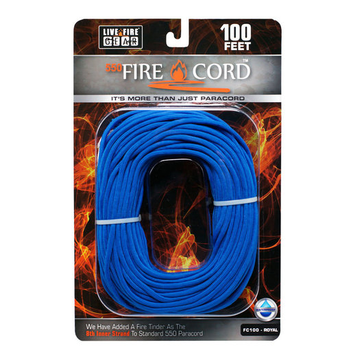 View a Larger Image of  550 FireCord - 100' ROYALBLUE Paracord