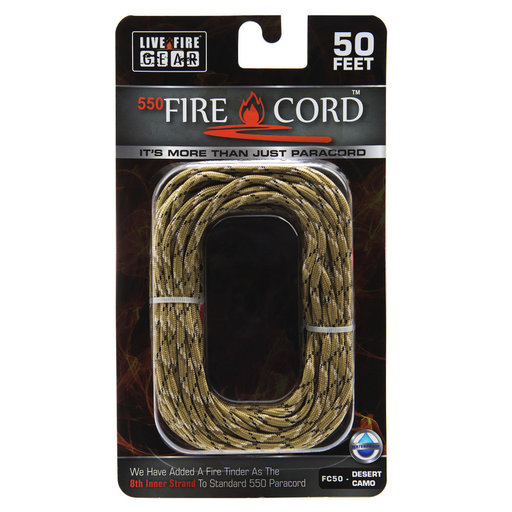 View a Larger Image of  550 FireCord - 50' DSCAMO Paracord