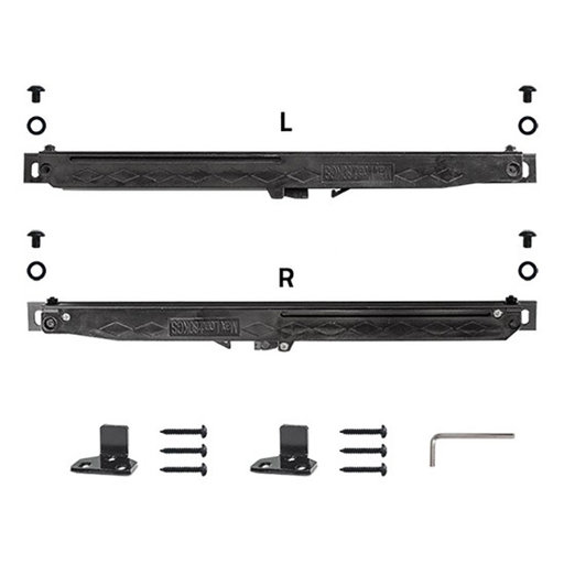 View a Larger Image of 6.6 Ft. Soft-Close White Hook Strap Rolling Door Hardware Kit for Wood Door