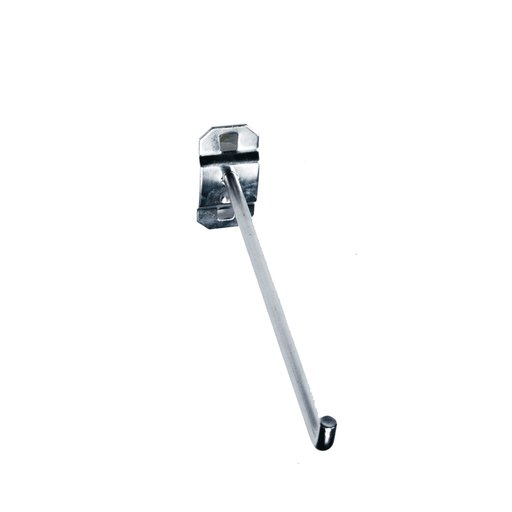 View a Larger Image of 6 In. Single Rod 90 Degree Bend 1/4 In. Dia. Stainless Steel Pegboard Hook for Stainless Steel LocBoard, 3 Pack