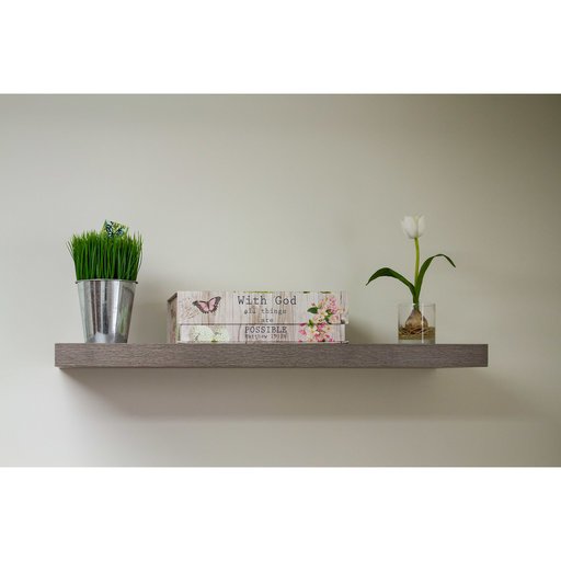 """View a Larger Image of 60"""" W x 13"""" D x 2"""" H Riviera Oyster Shell Floating Wall Shelf"""